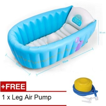 baby a inflatable baby bath tub free leg pump 0 5 year old blue lazada malaysia. Black Bedroom Furniture Sets. Home Design Ideas