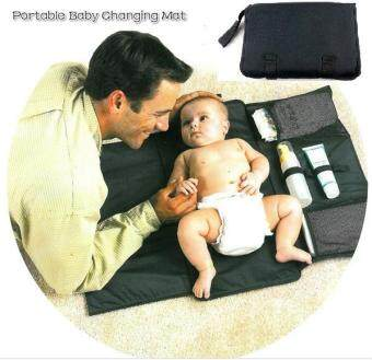 Baby Diaper Changing Mat Nappy Changing Pad Bag With StoragePockets Waterproof Travel Changing Station Kit Diaper Clutch