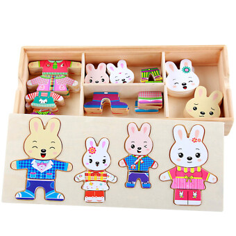 Baby early childhood hand grasping matching puzzle wooden puzzle