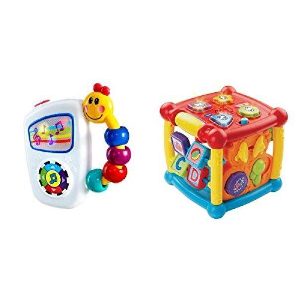 Baby Einstein Take Along Tunes Musical Toy with VTech Busy Learners Activity Cube Bundle - intl