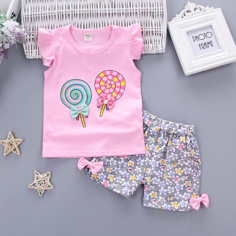 Bayi Perempuan Pakaian Pakaian Set Merek Modis Musim Panas Bayi Bayi Gadis Pakaian Olahraga Kasual Merek ...