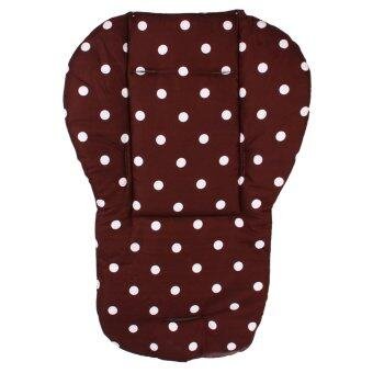 Harga Baby Kids Infant Pushchair Stroller Seat Padding Pram Liner PadCushion Soft Mat(coffe dot)
