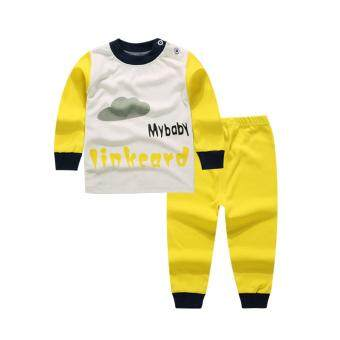 Harga Baby lily Bear Fashion Baby Boys Girls Casual Clothes My Baby Kids 2Pcs Long Sleeve Top + Pant Clothing Set