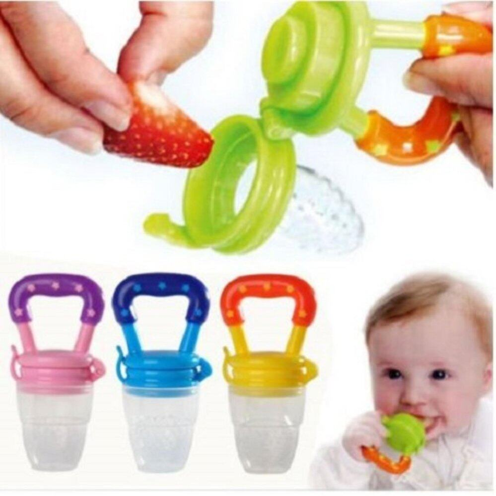 Allys Secret New Arrival Fisher Price Silicone Fruit Feeder Hijau Baby Milk Juice Pacifier 3 In 1 Size S M