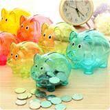 Bayi Celengan Plastik Koin Uang Tunai Koleksi Kotak Penyimpanan Pig Kids Hadiah Mainan Mawar Merah - 2