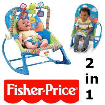 Baby to Toddler Portable Rocker Chair Froggie Fisher Price Vibration Bouncer Infant Soothing Chair (Blue)