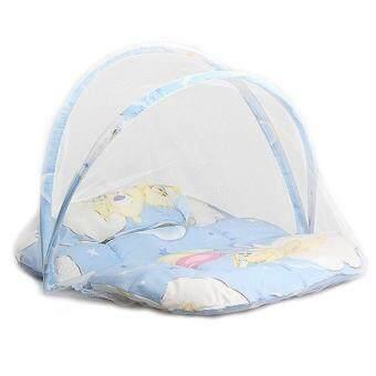 Harga Terkini Foldable Infant Cushion Crib Bed Polka Dolt
