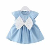 Baby Toddler Girl Summer Fashion Cute Dress with Large Bow