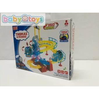 BabyQtoys little thomas & friends 360 rotary railway train set with flash & music yushixing orbit series baby toys BBQT2LZD0910033