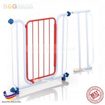 Harga B&G Baby Shop Safety Security Baby Gate Model 188 With 1 Extension Fit 82-110cm ( Random Colour)