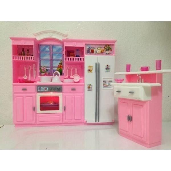 Ukuran Barbie Rumah Boneka Furniture-MY Mewah Kehidupan Dapur Permainan  Set-Internasional d00a116a01