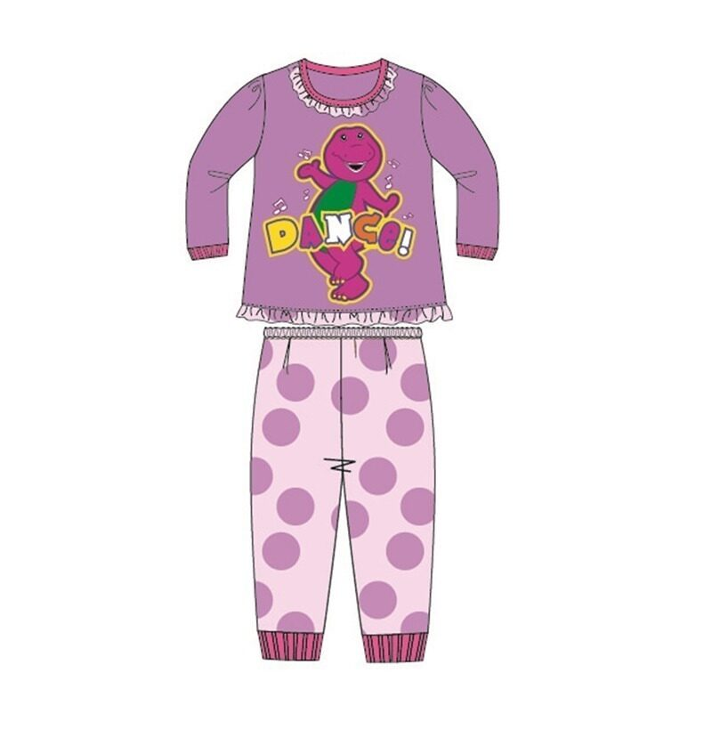 Barney And Friends Pajamas 100% Cotton 1yrs to 4yrs - Purple Colour