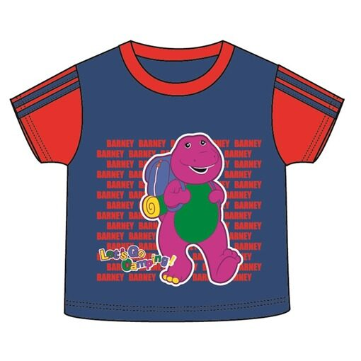 Barney Toddler Boy T-shirt 100% Cotton 1yrs to 3yrs - Blue And Red Colour