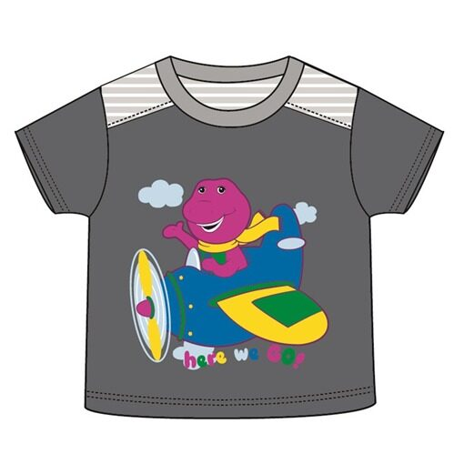 Barney Toddler Boy T-shirt 100% Cotton 1yrs to 3yrs - Grey Colour