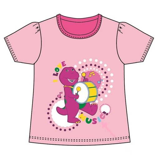 Barney Toddler Girl T-shirt 100% Cotton 1yrs to 3yrs - Pink Colour