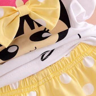 Bear Fashion Baby Clothing Kids Summer Sweet Bow Girls Clothes 2pcs Set Suit - 4