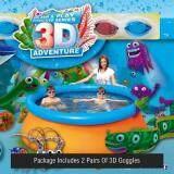 Bestway 3D Adventure Paddling Pool kids Free 2 pairs goggles 213cm x 66 cm capacity 1,610L / 425 gal