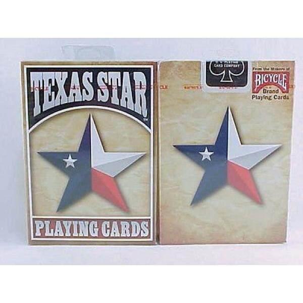 Sepeda Texas Bintang Tertagih Bermain Cards-1 Tertutup Deck-Internasional