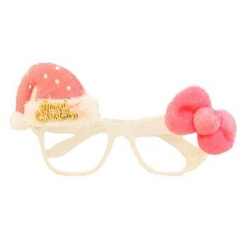 Bigood Hiasan Natal Anak-anak Dewasa Lucu Santa Manusia Salju Kacamata  Bingkai Kacamata Pink Letter c1a20d05c0