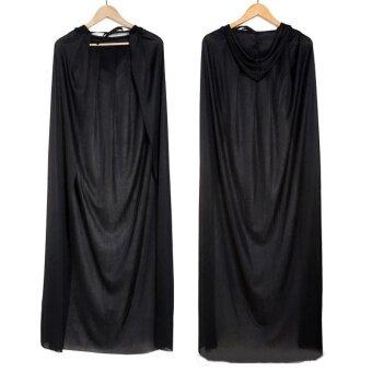 Hitam Halloween Properti Kostum Teater Kematian Hoody