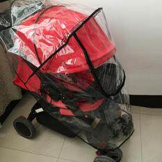 Diskon Blackhorse Baby Travel Universal Transparent Clear Pushchair Stroller Buggy Pram Waterproof Windproof Rain Cover Canopy Wind Weather Shield For Protector Zipper Size L Oem