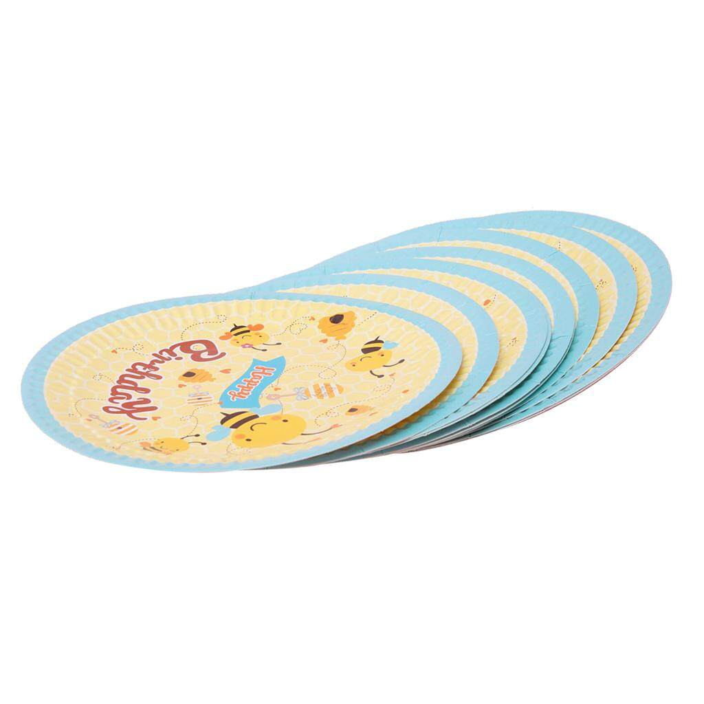 BolehDeals 10pcs Cute Bee Disposable Paper Plates Birthday Party Tableware DIY - intl  sc 1 st  Onshca & Plates Disposable price in Singapore