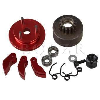 Bqlzr Merah D10201 Aluminium Upgrade Roda Gila dengan Perangkat Tas untuk RC1: 8 Model Mobil