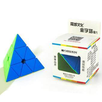 Brain Teaser Puzzle Cube Pyraminx Stickerless Pyramid Speed Cube For Magic Cubes Beginners Puzzle Enthusiasts