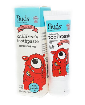 Harga Buds Children's Strawberry with Fluoride 50ml (3-12 Years Old)