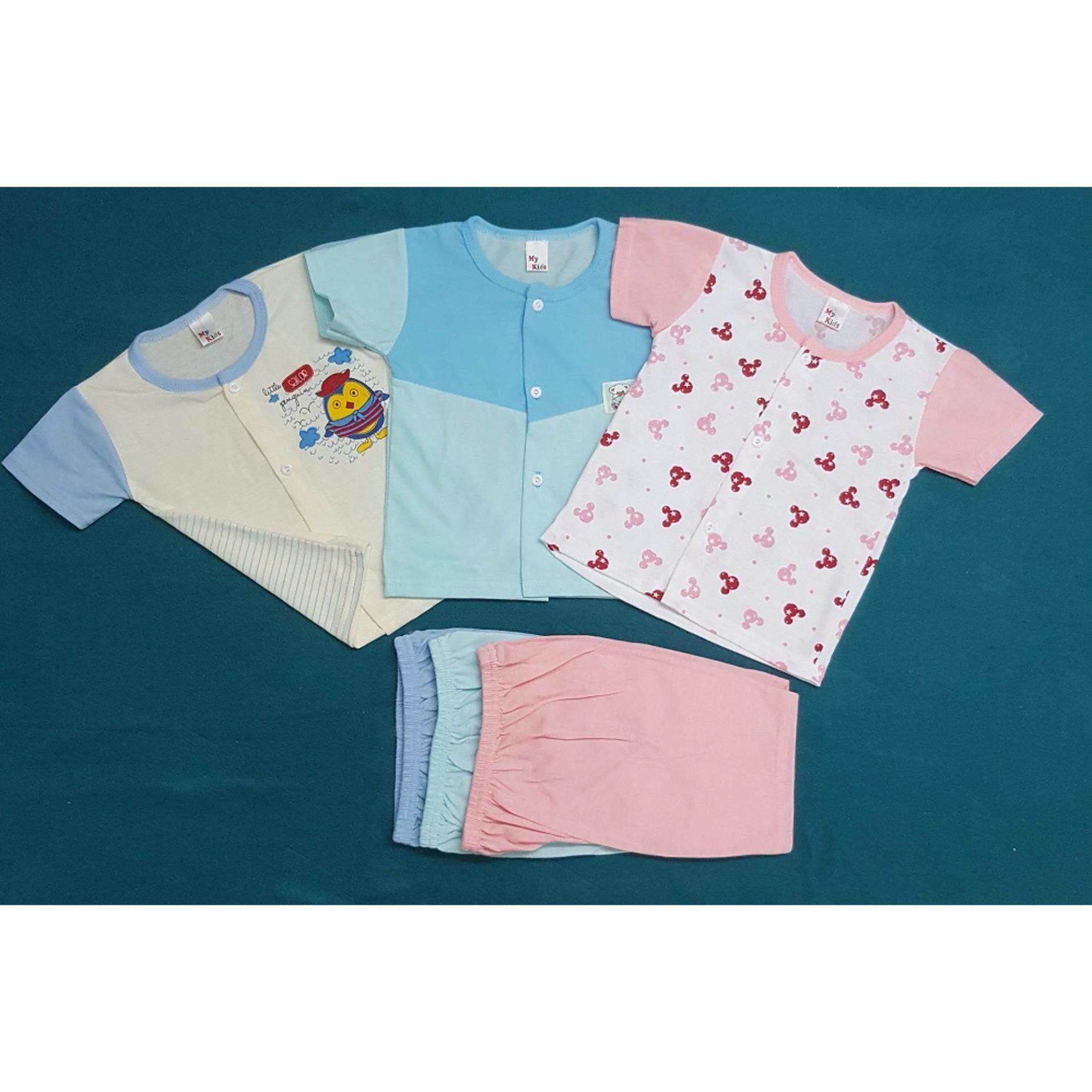 NewBorn & Baby 3 SET Casual wear - Random Design 001 (Fit to Age: 6-18Mth Mass:8-12kg Height:69-80CM)