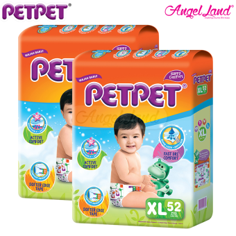 [Buy 2 Free 1] Petpet Tape Diaper Mega XL52 (2Packs) + FOC Petpet Tape Diaper Jumbo pack XL34
