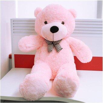 Harga BUYINCOINS 100CM Cute Teddy Bear Pink Giant Big Cute Plush 100%Cotton Huge Soft Toy Gift
