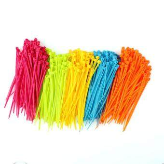 BUYINCOINS 500PCS Mixed Color Plastic Cable Baby Toddler DiaperingPotty Ties Wrap Tie Wire