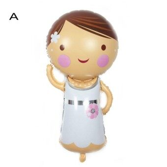Cartoon Bride And Groom Aluminum Foil Balloon For Wedding Party Decoration A
