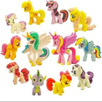 Cenita Dolls 12Pcs My Little Pony Friendship Is Magic Cake Figure Kids Toy Gift