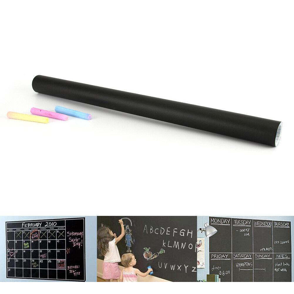 Hình ảnh Chalkboard Chalk Board Blackboard Removable Vinyl Wall Sticker Decor 45cmX200cm - intl
