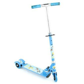 Harga Children Fold-able Tri Wheel Scooter With Breaking System (Blue)