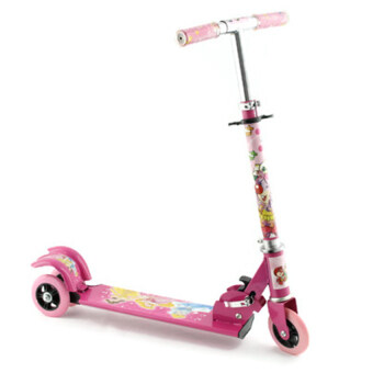 Harga Children Fold-able Tri Wheel Scooter With Breaking System (Pink)