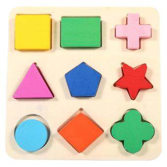 Harga Children Geometry Shape Wooden Puzzle Learning Toy