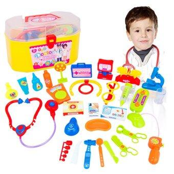 Harga Children Kid Plastic Simulation Pretend Play Doctor Medical Toy KitEducational Toy Set with Case