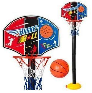 children's basketball four section can be adjusted children'sbasketball with basketball and play pump basketball rack