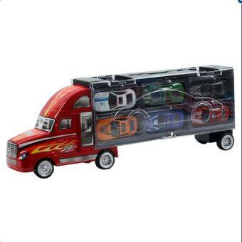 Children's toy car model portable container gift box car with 12racing alloy toy cars truck car carrying Case set simulation model