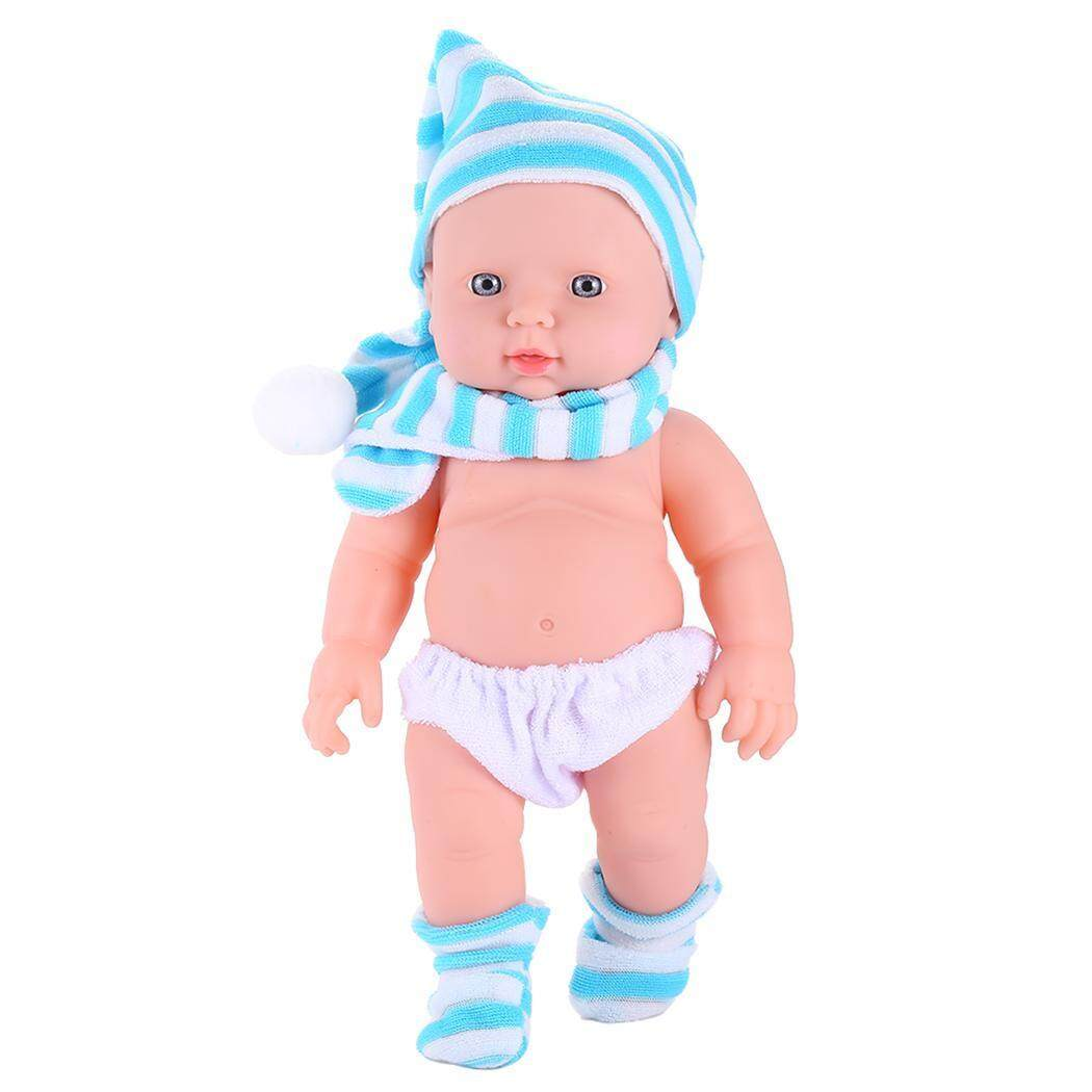 Harga Clearance Sunweb 30 Cm Mainan Boneka Bayi Vinil Lifelike Bayi Doll Ulang Tahun Pesta Hadiah (Biru)-Internasional