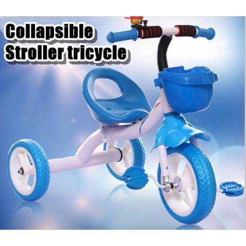 Collapsible stroller tricycle (Blue/Pink)pink