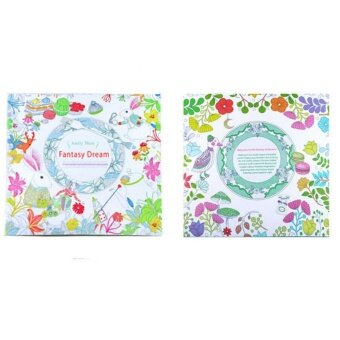 Coloring Painting Book Secret Garden Kid Adult Anti Stress Fantasy Dream