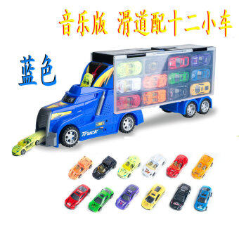 Container car large truck transport truck alloy metal portable storage box