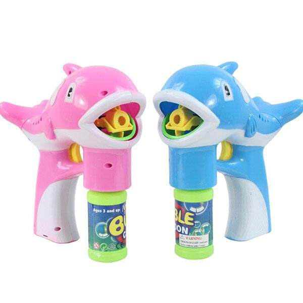 Keren Bayi Lumba-lumba Gelembung Maker LED Musik Lampu Ringan Kotak Ulang Tahun Hadiah Mainan untuk Anak-anak-Internasional