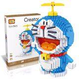 Cute Big Size Doraemon Coin Bank Loz Diamond Building Block[Nanoblock/Nanoblocks Compatible/Present]