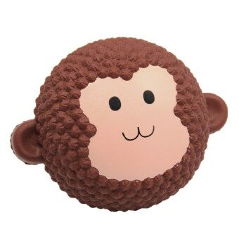 Cute Kawaii Soft Squishy Monkey Cake Toy Slow Rising for Children Adults Relieves Stress Anxiety Home