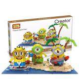 Cute Minion/Minions/Despicable Me Series Beach Party Loz Diamond Block Figure [Nanoblock Compatible]